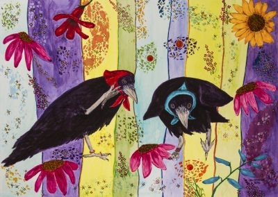 RAVEN IMAGE- Flowers and Stripes