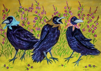 RAVEN IMAGE- Three Grandmothers and Fireweed